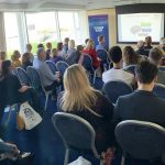 James Wright delivering the Secret Psychology of persuasion at Southampton B2B Expo 2019
